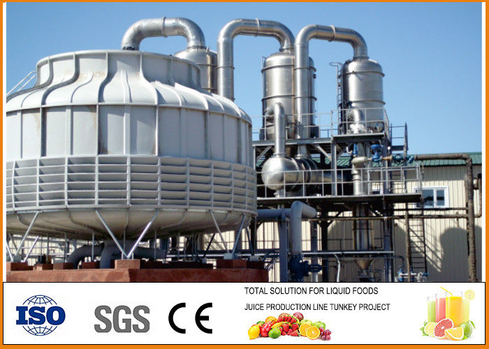 SS304 900-1000 T/day Tomato Paste Processing Line 1291.6kw  Power