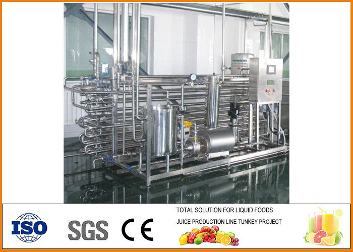 3T/h SS304 Fruit and vegetable juice Tubular UHT Sterilizing Machine