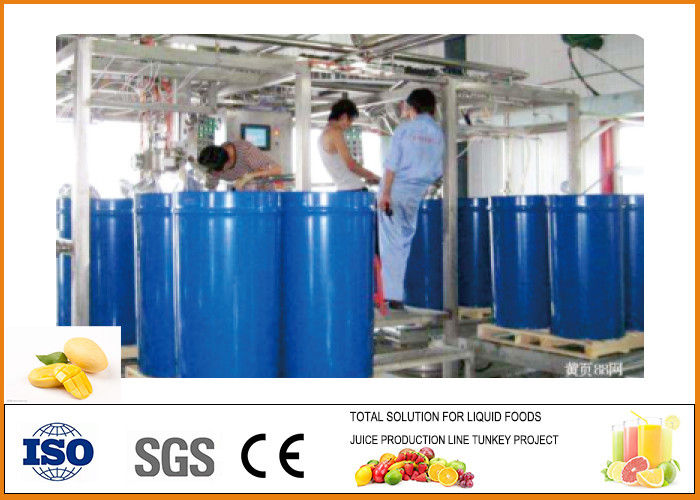 Mini Turnkey Mango Processing Line 50~75 Brix Concentrated Juice Concentration