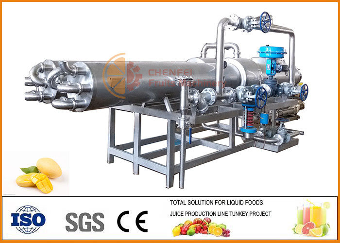 Complete Mango Processing Line SS304 Material Silver Color PLC Control