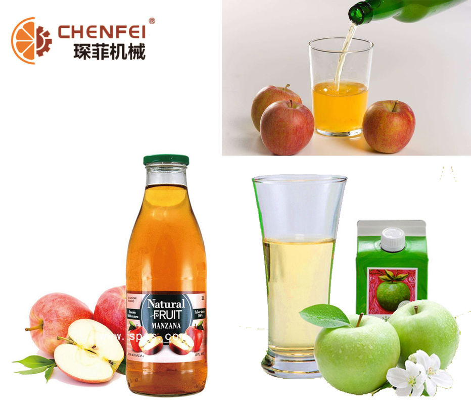 Industrial Apple Juice Processing Line Energy Saving 2 T/H Capacity ISO9001