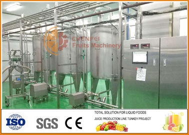 SS304 Blending System, High Effiency Complete Juice And Jam Blending line
